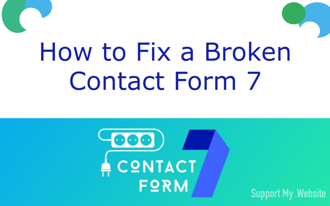 How To Fix a Contact Form 7 That Isn't Working